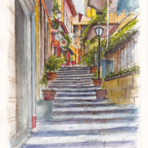 BellagioStreetAquarelle