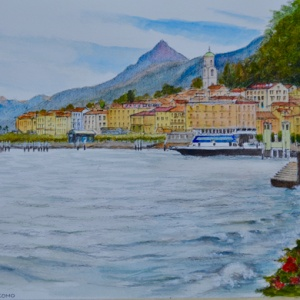 Bellagio On Lake Como. Aquarelle