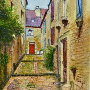 Sarlat-la-Canéda, France. Porte Rouge (Red Door)