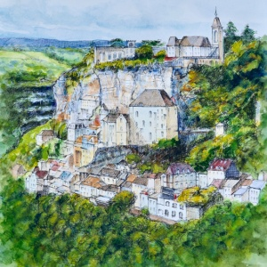 Rocamadour Aquarelle France