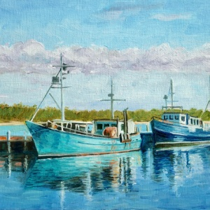 Fishing Boats in LakesEntrance