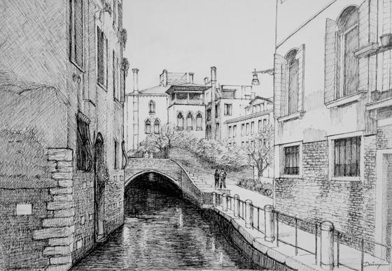 Venice Black White