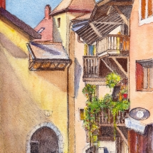 Annecy Roof Lines Aquarelle
