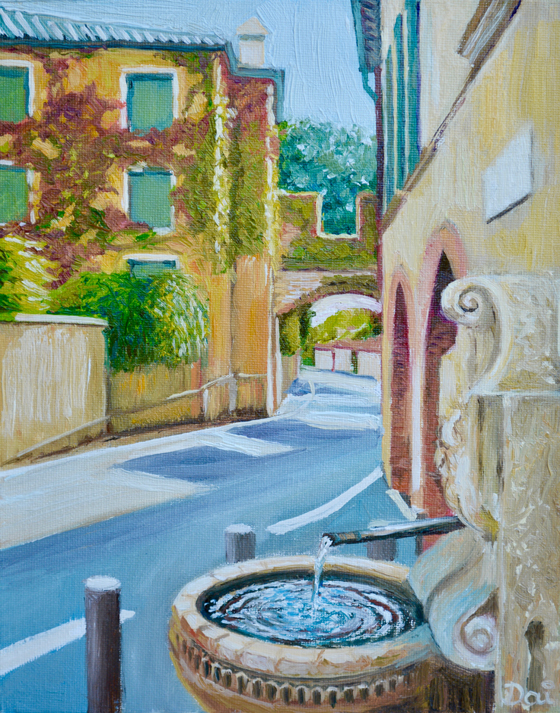 Water fountain in Asolo, Italy