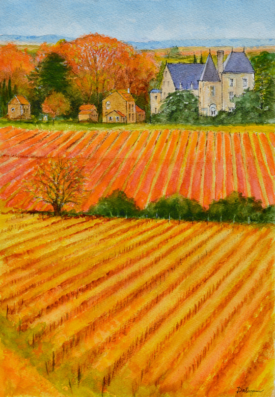 Autumn in a French Vineyard