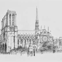 Notre Dame Sketch