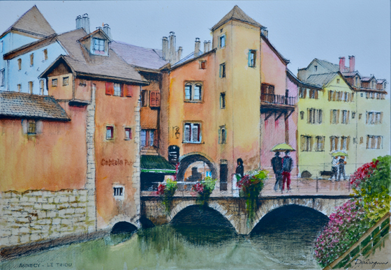 Annecy in the Rain