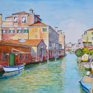 Venice Rio Della Sensa Aquarelle