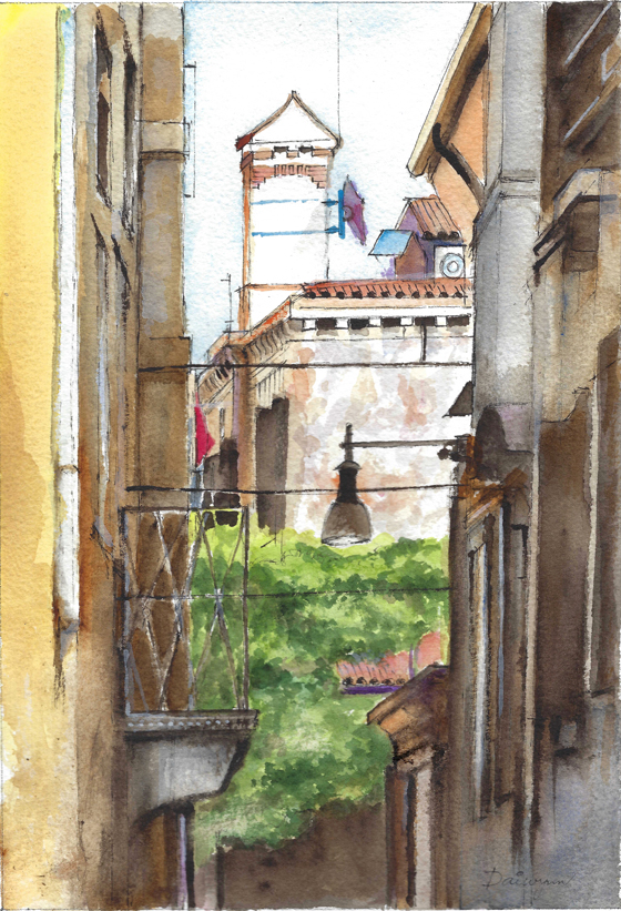 Venice Architecture Watercolour Painting