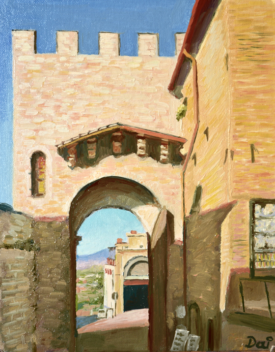 Three Arches in Assisi, Italy