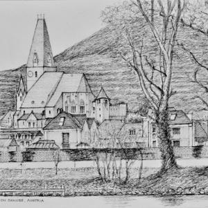 WeissenKirchen (White Churches) on the River Danube in Austria