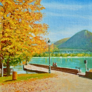 Annecy Lake in Autumn